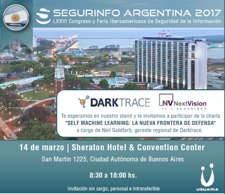 NextVision junto a Darktrace en SEGURINFO 2017