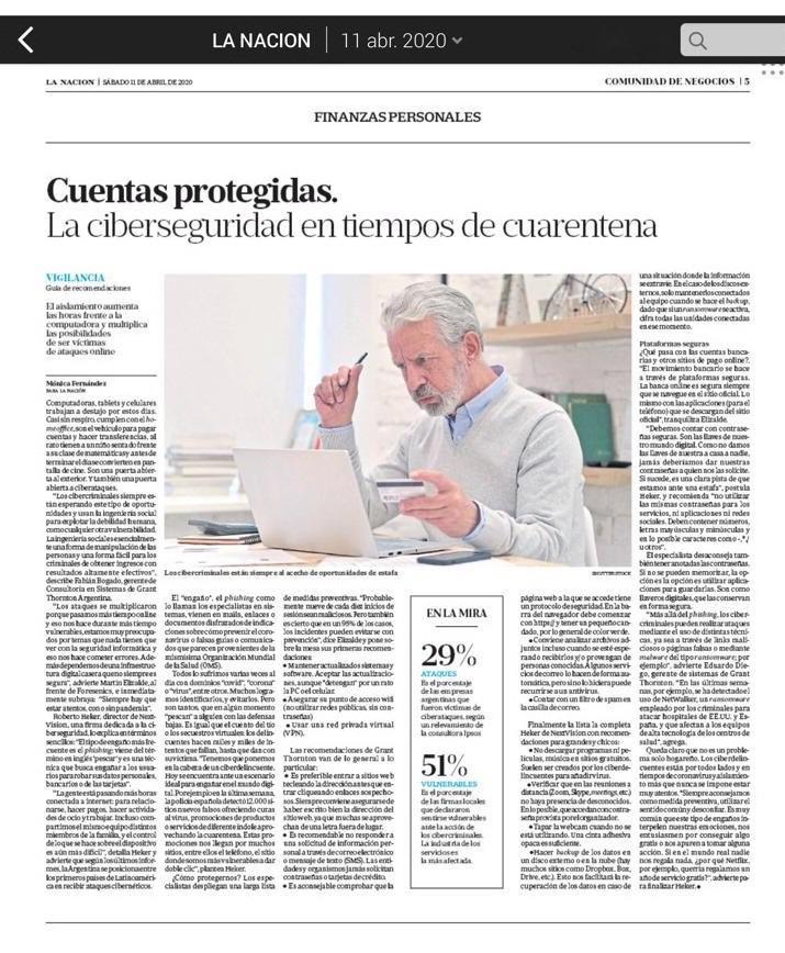 NextVision en diario La Nación